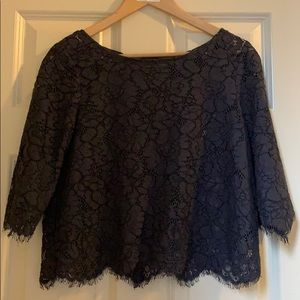 Club Monaco Blouse, Navy Blue